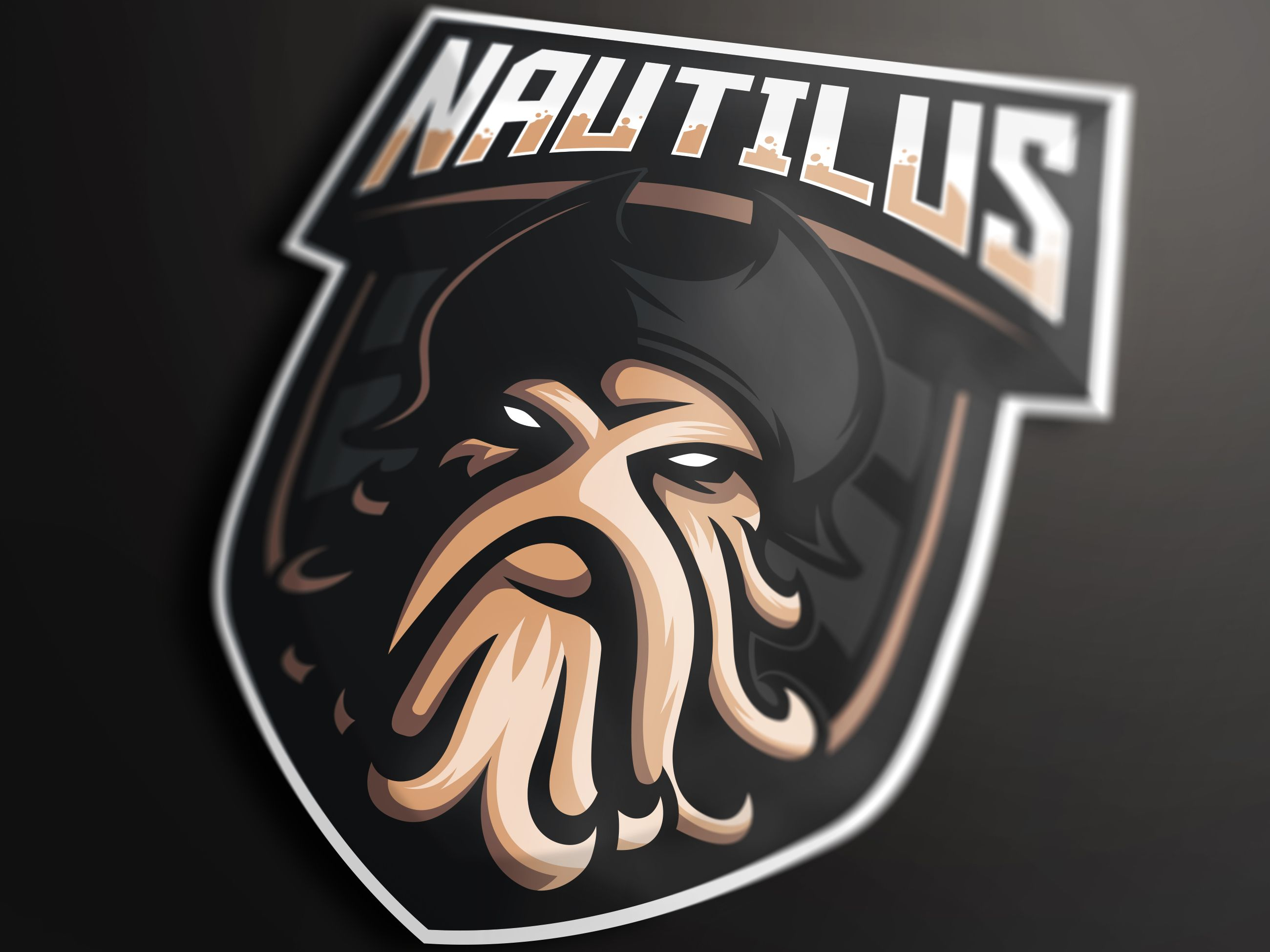 Nautilus Mascot Logo Fantasy Football Logos Sports Logo Design Football Logo Design