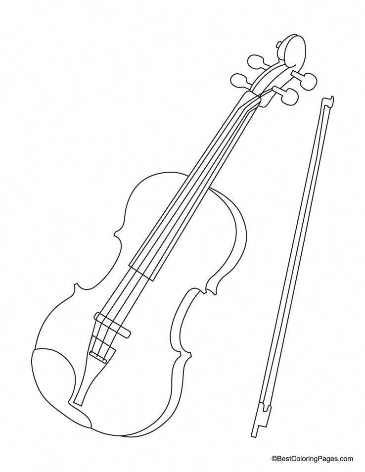 Violin Coloring Page Violinforkids Coloring Pages
