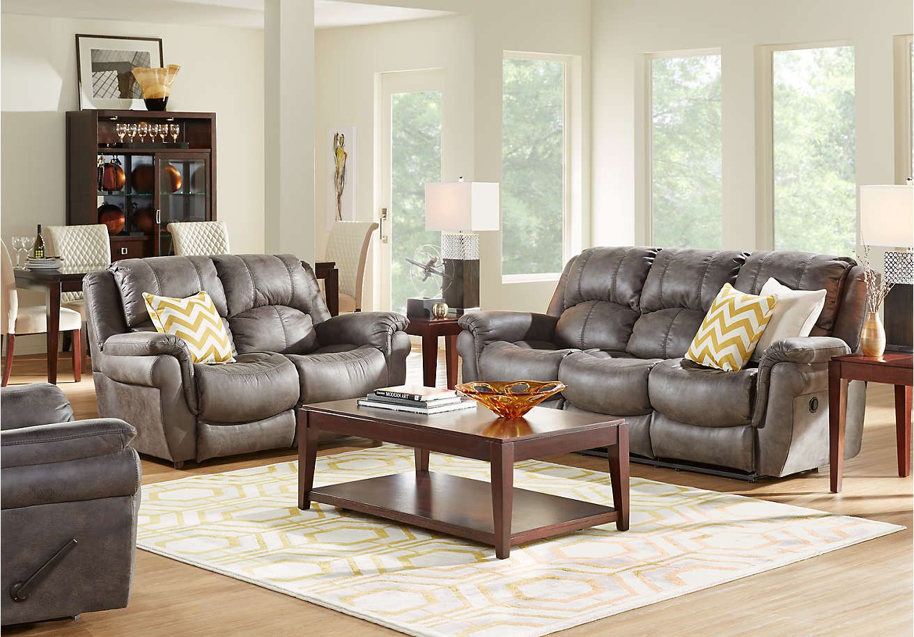 Corbin Gray 2 Pc Living Room 999 99 Find Affordable