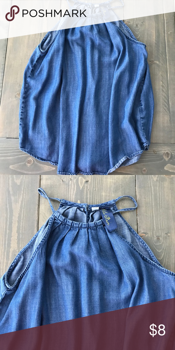 374fb1d0d0d222 Blue Rain Denim tank top Size small denim tank top. Loose fit could fit up  to large Blue Rain Tops Tank Tops