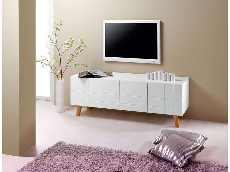 Meuble Tv 140 Cm Finition Laqué | Tvs, London And Canape Salon Schlafzimmer Conforama