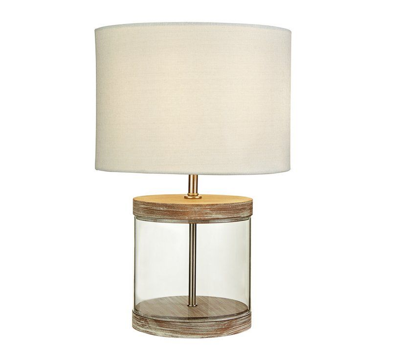 Home Coastal Wood Gl Table Lamp Lounge Inspiration In