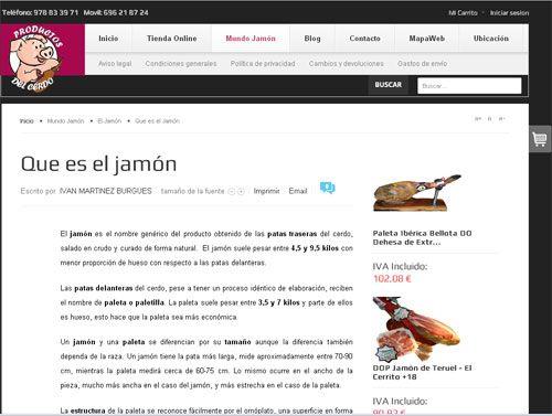 Tienda Online De Venta De Jamones Y Paletas De Todas Las