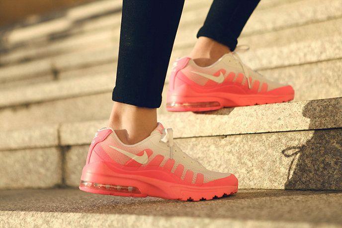 innovative design 19da4 e25b8 2018 Factory Authentic WMNS Nike Air Max Invigor White Pink Fire On Feet