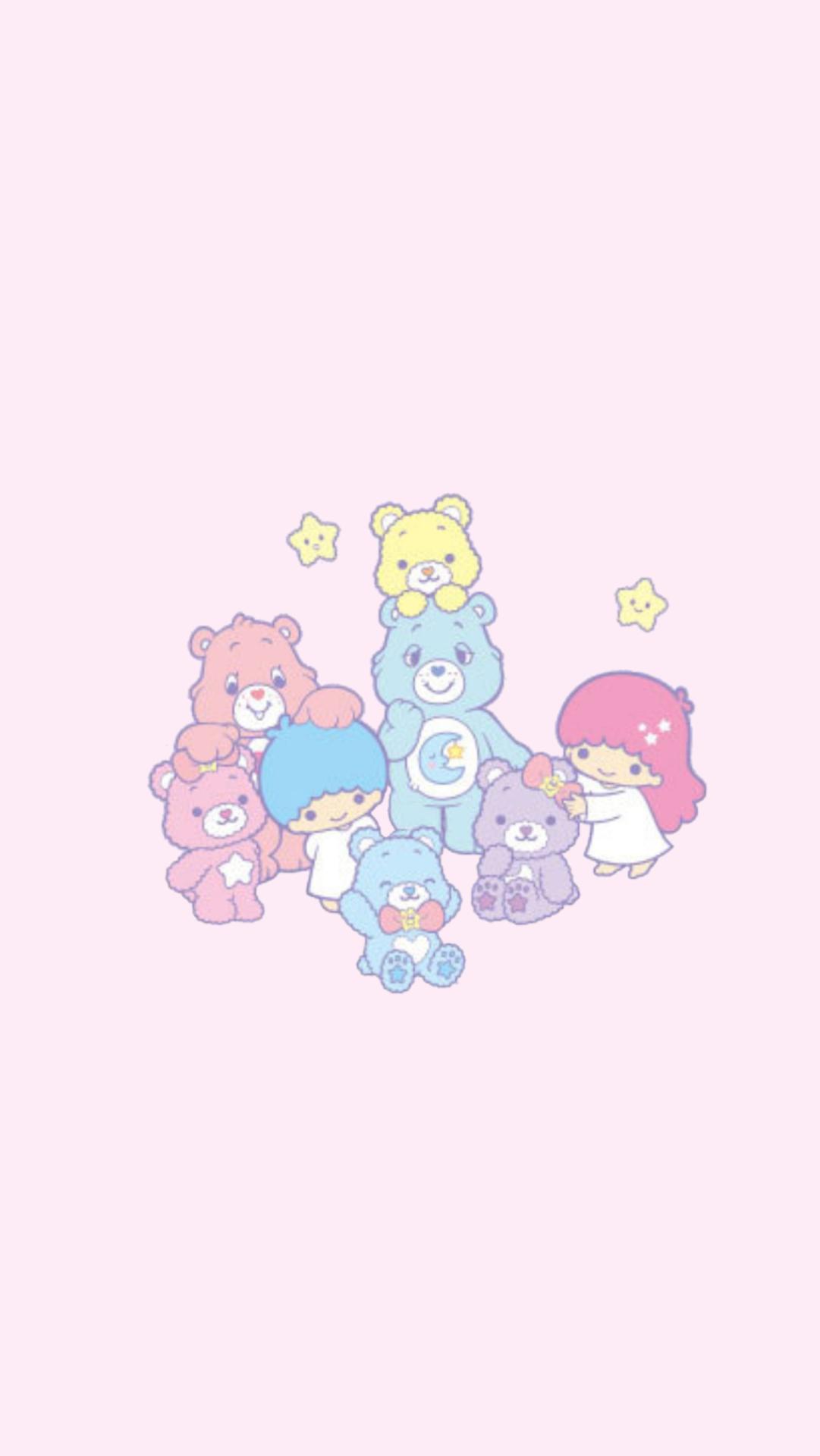 Princess Little Twin Stars X Care Bears Lockscreens Bear Wallpaper Cute Wallpapers Cartoon Wallpaper