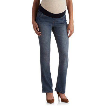 Planet Motherhood Demi-Panel 5-Pocket Bootcut Maternity Jeans ...