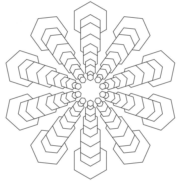 Mandala Ausmalbild Nr 80 Mandalas Pinterest