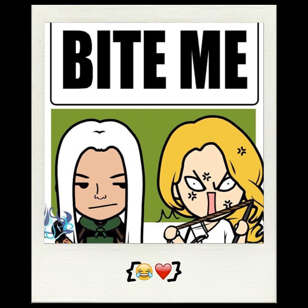 Rowan and Aelin . Heir of Fire. lol!!!!