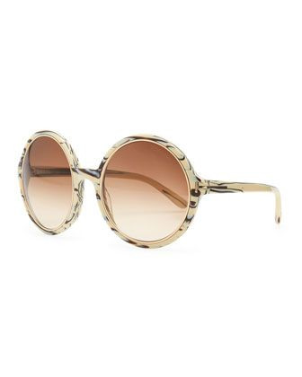 80d289f16f Carrie Striped Round Sunglasses