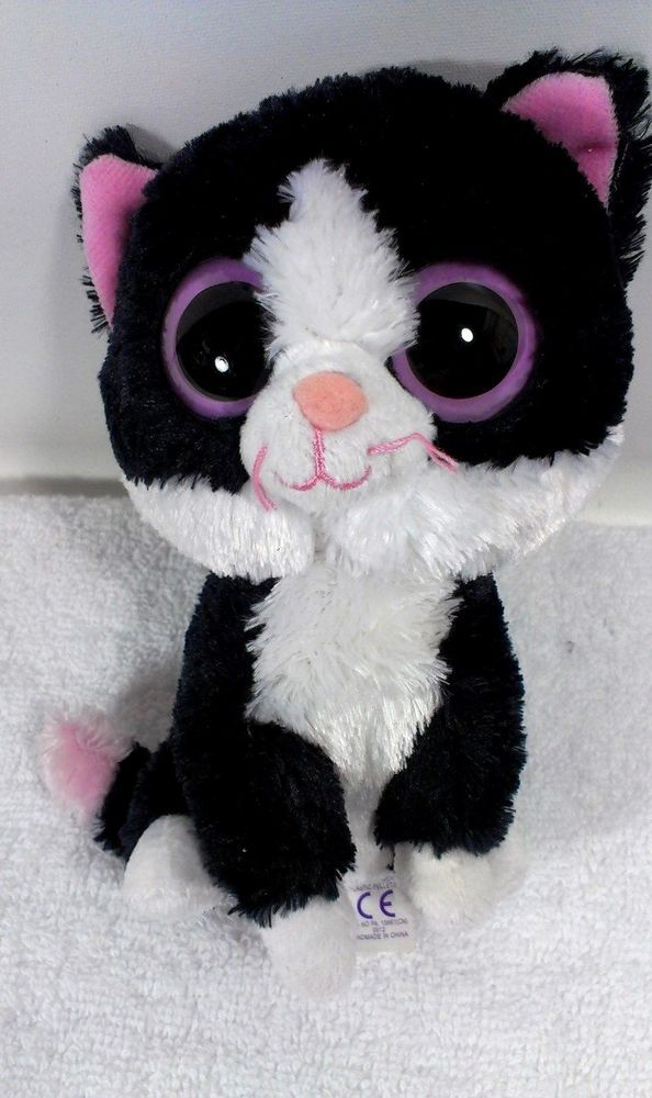 Ty PEPPER Cat Beanie Boo Boos Plush Kitty Collectible 6