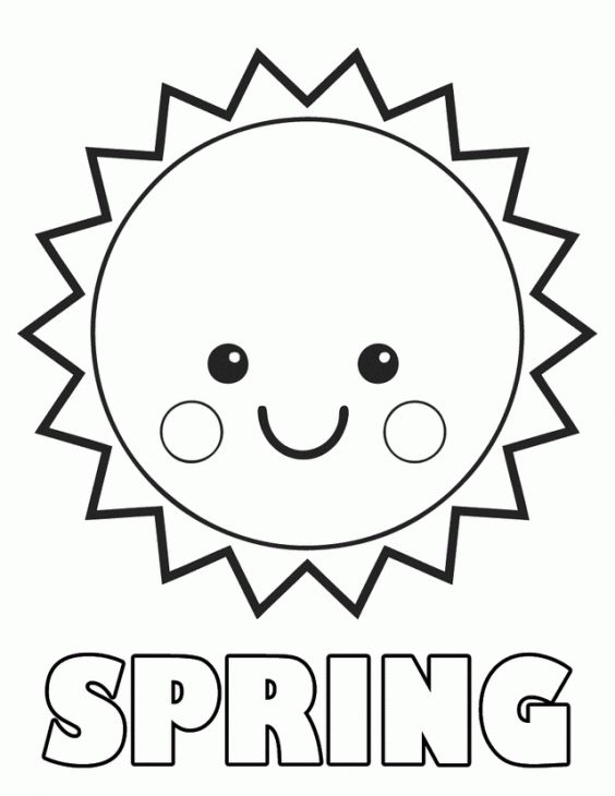 Free Spring Preschool Coloring Page | Holiday Coloring Pages ...