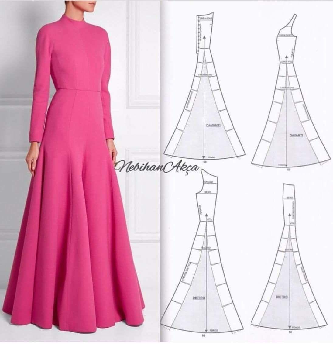 Pin de Zubeyde en elbise | Pinterest | Molde, Moldes para vestidos y ...