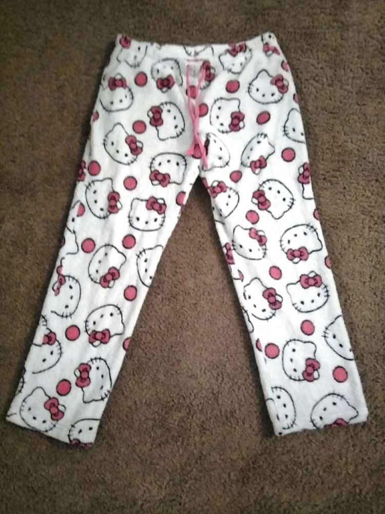 0dae3f771 Hello Kitty Pajamas Pants Adult Small White Pink #fashion #clothing #shoes  #accessories #womensclothing #intimatessleep (ebay link)