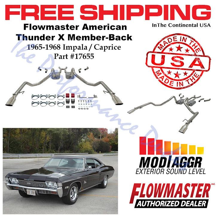 Same Business Day Shipping Flowmaster 1965-1968 Impala