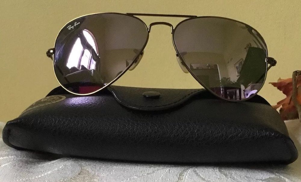 df303f0317c357 Unisex Authentic Ray Ban Aviator Sunglasses Black Leather Case Made In  Italy  fashion  clothing  shoes  accessories  unisexclothingshoesaccs ...