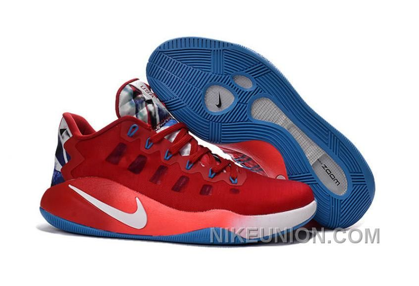 On Hyperdunk 2016 Low Red Blue White TopDeals