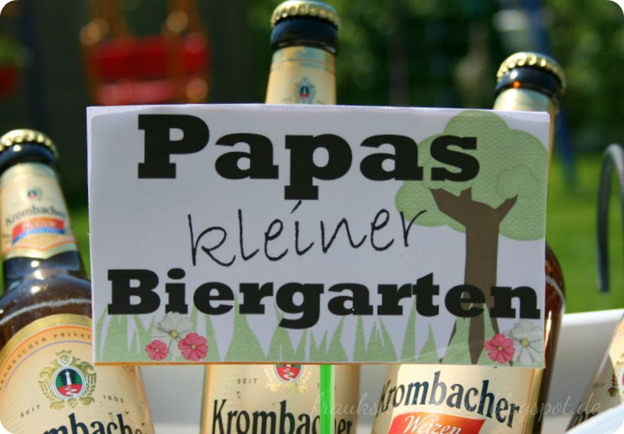 schild papas kleiner biergarten download auf vatertag pinterest. Black Bedroom Furniture Sets. Home Design Ideas