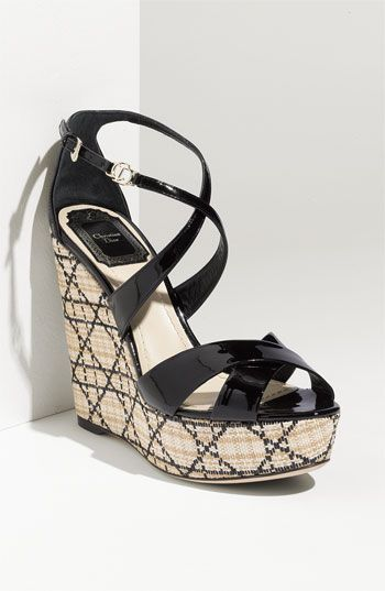 d8aa771d6b3 Fuuuuuuudgggggeee Dior. Why you gotta be so good ! (Dior  Escapade  Wedge  Sandal in Black Patent Leather)  700