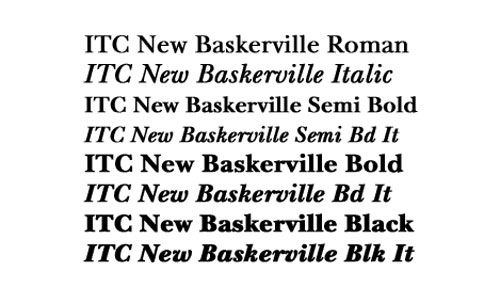 ITC New Baskerville Complete Family Pack - High Quality Premium Font