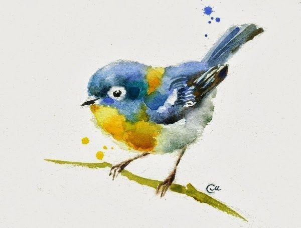 Little Bird Watercolor Bird Birds Painting Watercolor Illustration