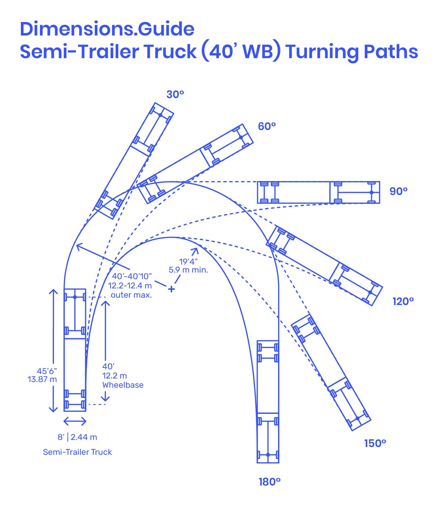 Semi Trailer Truck 40 Wb Parking Design Trucks Semi Trailer Truck