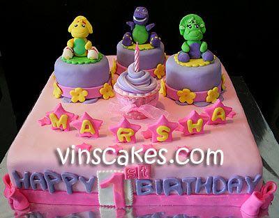 Vin S Cakes Birthday Cake Cupcake Wedding Cupcake Bandung Jakarta Online Cakes Shop Pinky Cake Barney Fr Cake Cupcake Birthday Cake Barney Friends