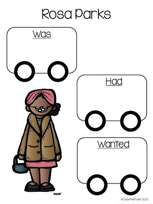 rosa parks graphic organizer freebie these headers would be great rh pinterest com Susan B. Anthony Clip Art Fish Clip Art