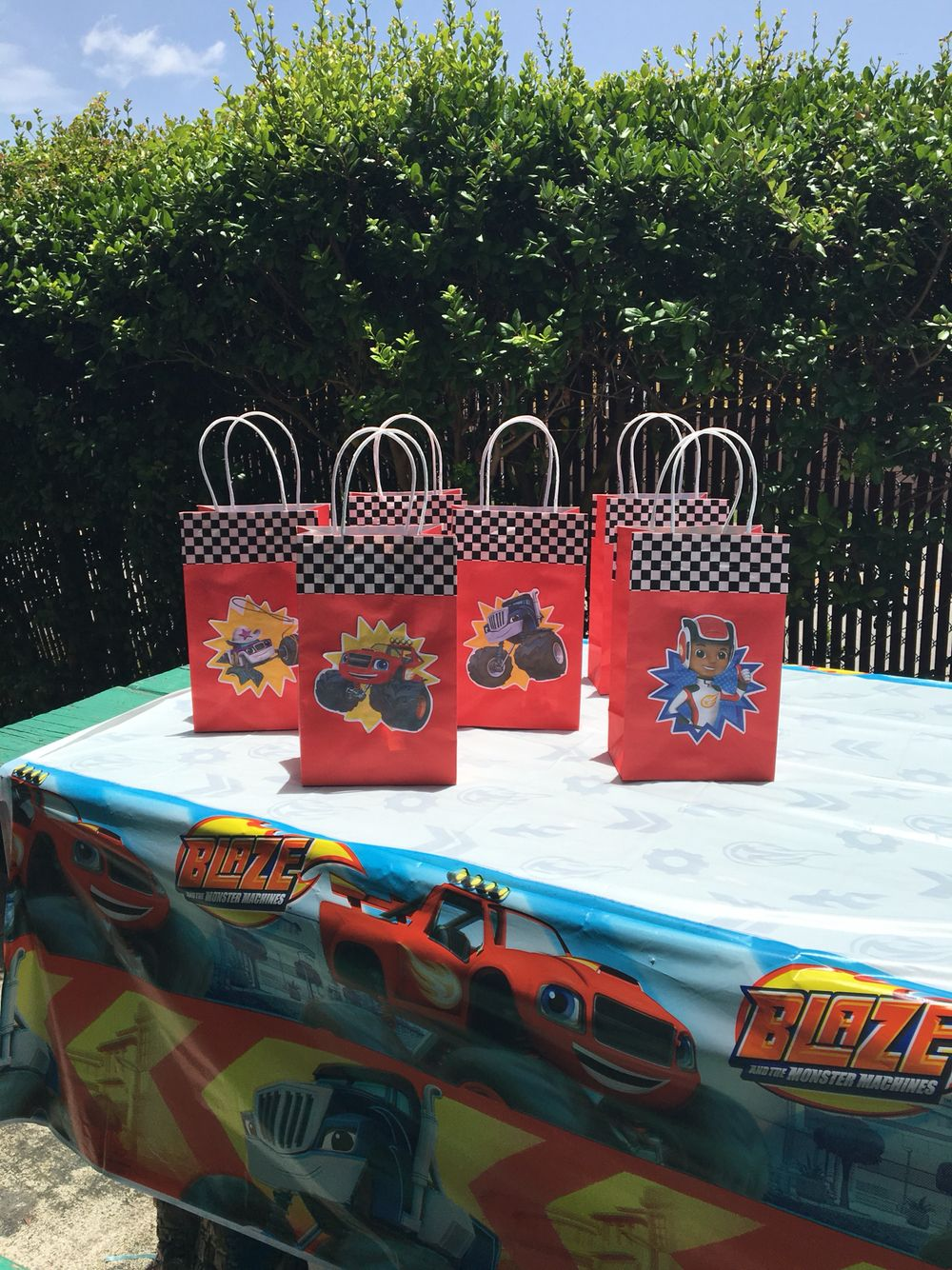 Blaze And The Monster Machine Goodie Bags Party Ideas