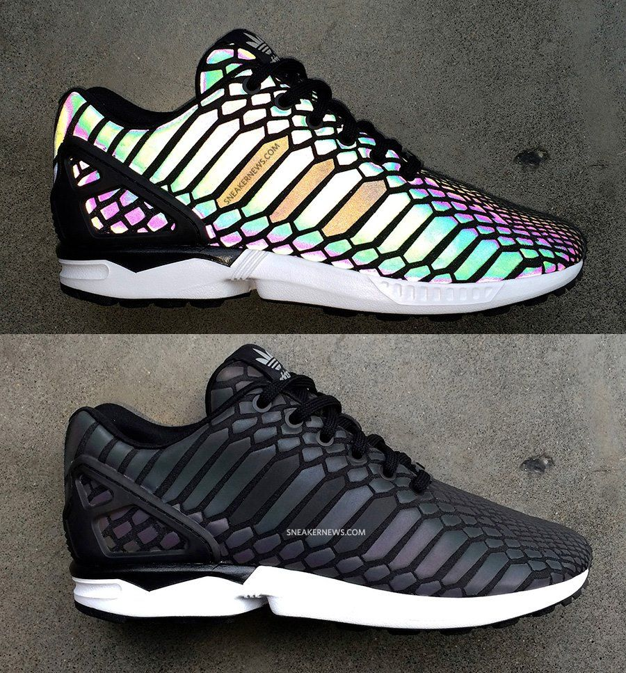 <3 adidas ZX Flux Xenopeltis Snake 3M Reflective
