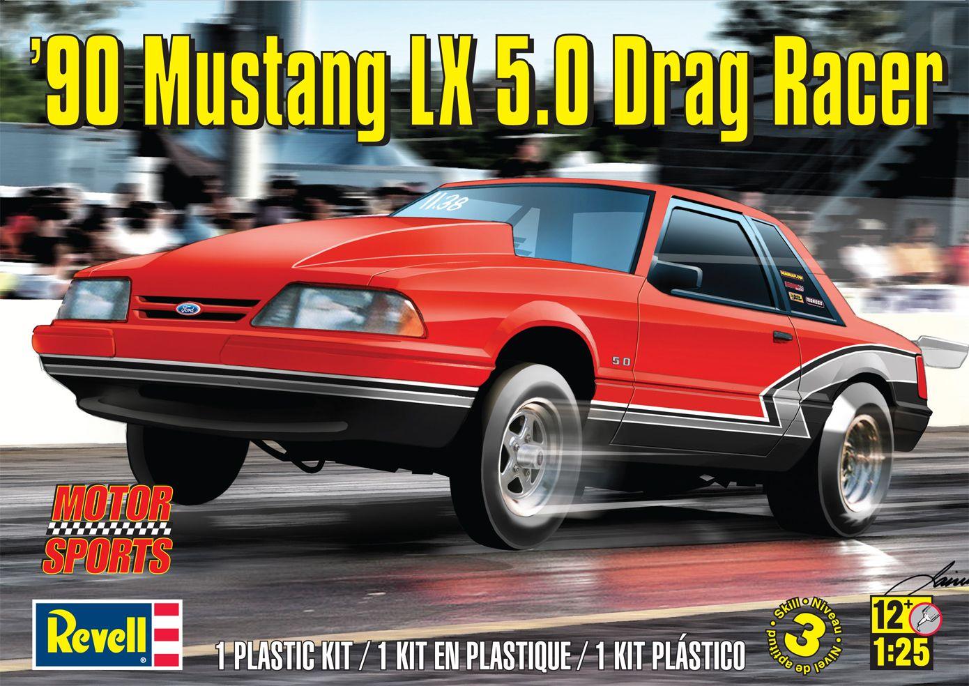 90 mustang lx 5 0 drag racer plastic model kit 1 25 scale from