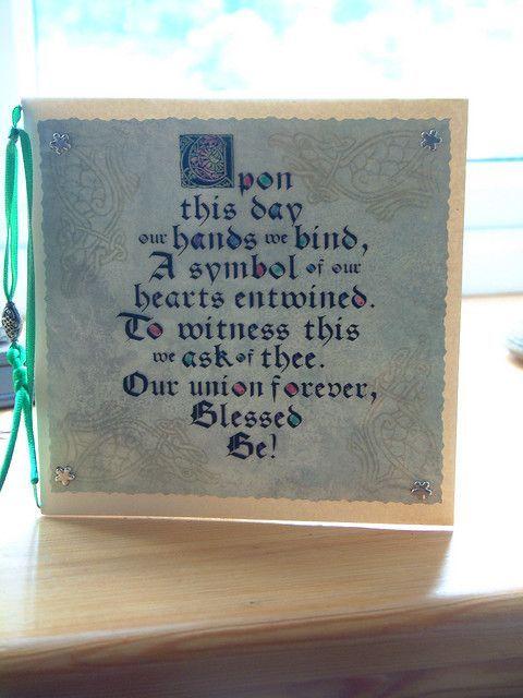Handfasting Poem Card Handfasting Wiccan Wedding Wedding