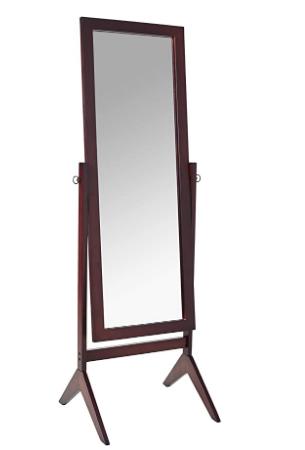 Crown Mark Espresso Finish Wooden Cheval Bedroom Floor Mirror In 2020 Floor Mirror Bedroom Flooring Affordable Decor