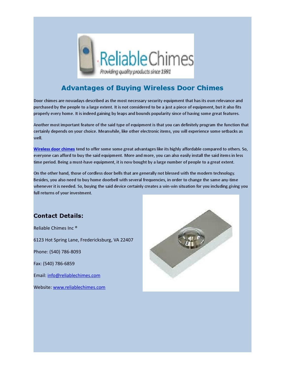 Advantages Of Buying Wireless Door Chimes Fake Security Cameras Wireless