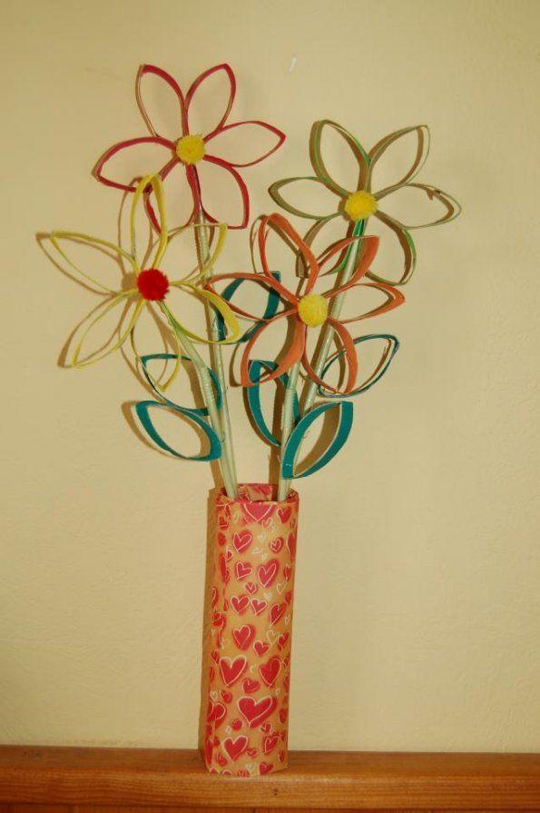 Bouquet Fleur Rouleaux Papier Toilette Kids Crafts Toilet Paper