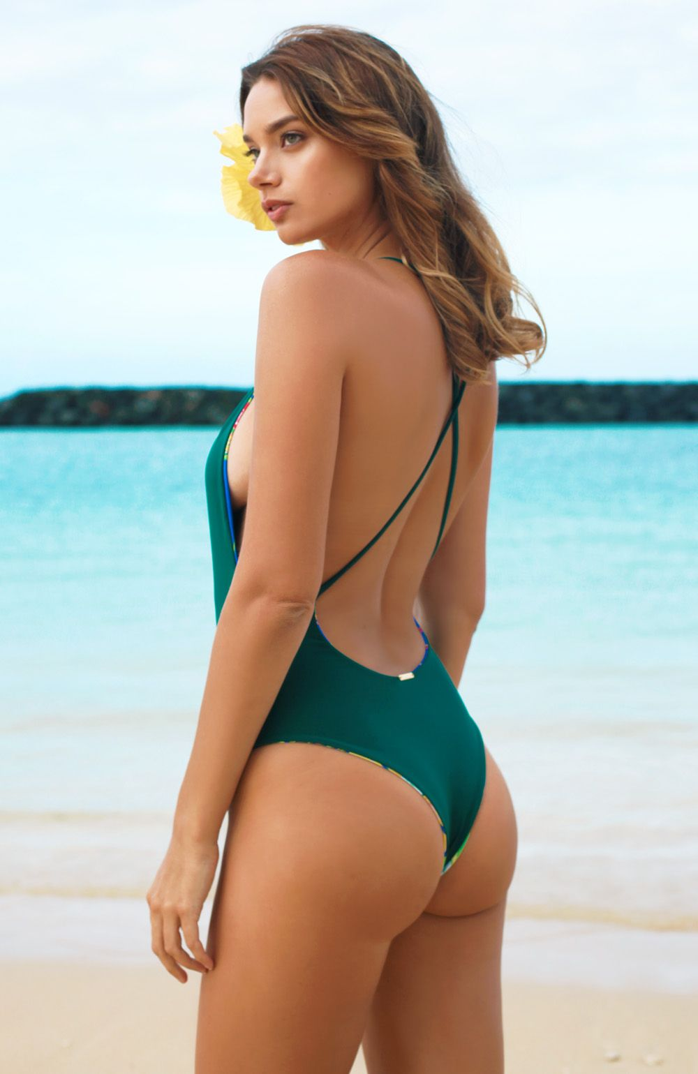 039e572be6 VINTAGE ALOHA Limu & Luana Cross-Back Monokini San Lorenzo Bikini, One  Piece Suit