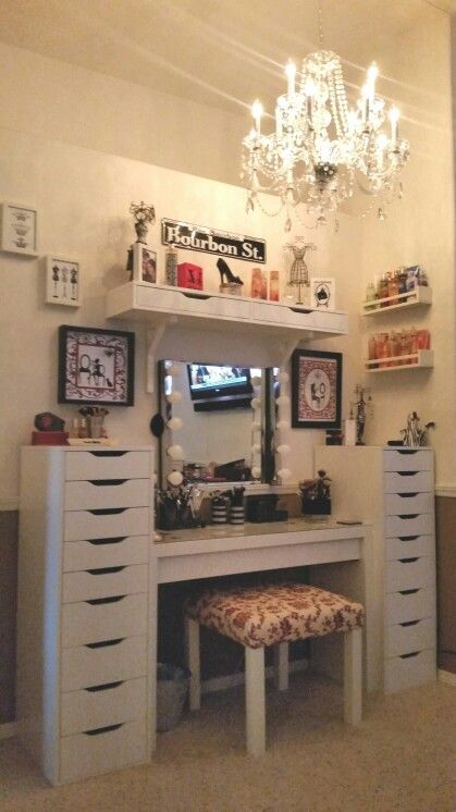 Vanity Area In My Bedroom. Ikea Malm Dressing Table, Alex 9 Drawer, Alex