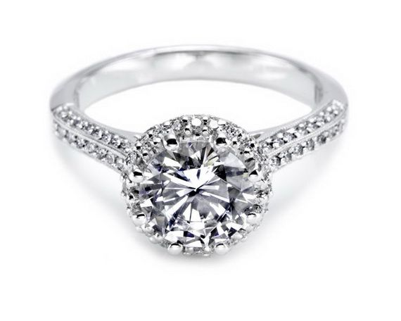 Tacori Round Centre Stone Engagement Rings For Women