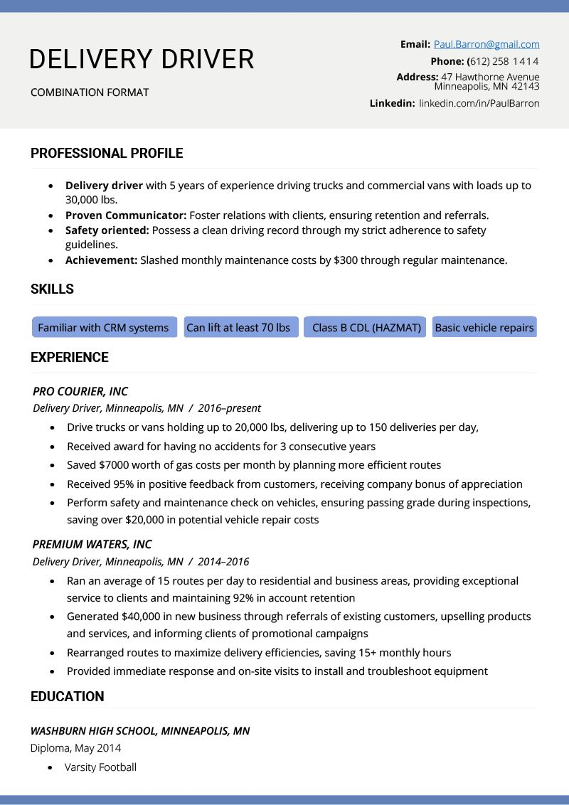 The Combination Resume Examples, Templates, & Writing