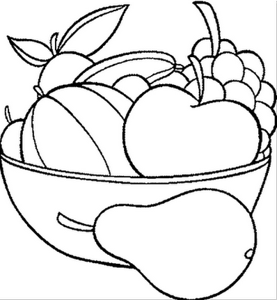 Desenhos de Frutas para Colorir - Desenhos para Imprimir de Frutas ...
