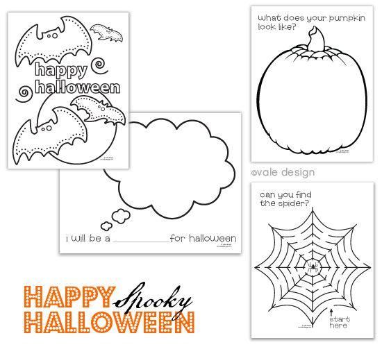 Vale Design Branding Logos Print Collateral Printables Halloween Coloring Halloween Coloring Pages Halloween Worksheets