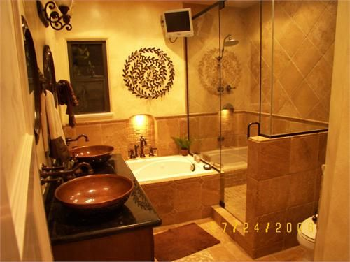 Tuscan Style Bathroom Designs Best So Much In Such A Small Space And Yet It Works Because Of The Design Inspiration
