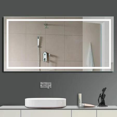 Miseno Mm5636ledr 56 W X 36 H Rectangular Build Com Bathroom Mirror Home Decor Mirrors Wall Mounted Mirror