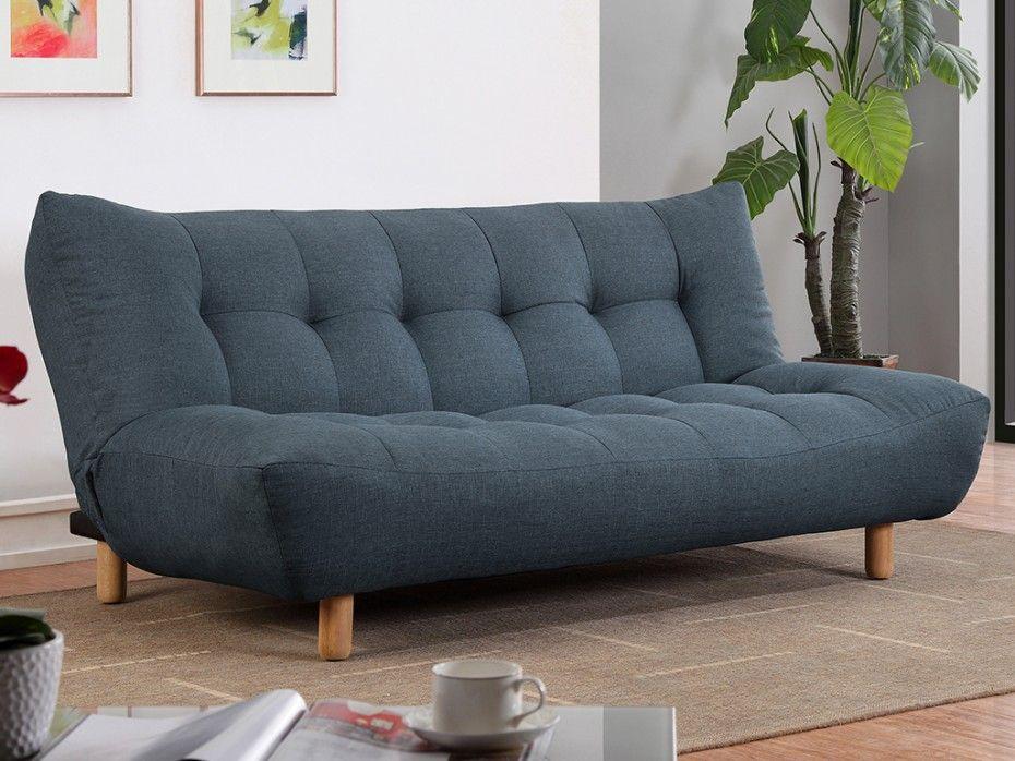 Sofa cama clic clac de tela rojo vincent decor for Sofa cama clic clac