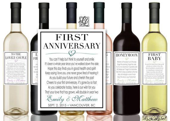 Custom Marriage Milestones Wine Labels & Champagne Labels ...