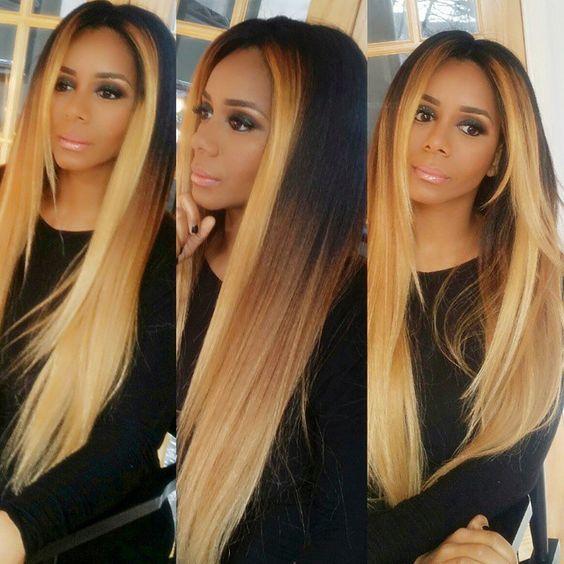 Honey Blonde Hair Color On Black Hair Color Pinterest Honey