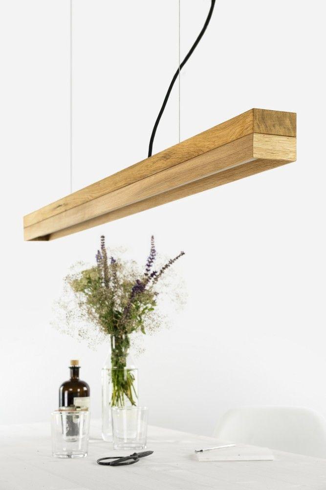 C1o] Oak Pendant light - oak wood and oak - includes high quality ...