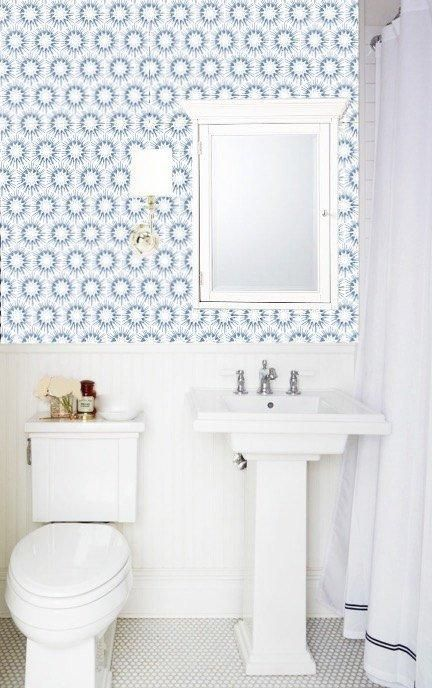 Hand painted design by Jennifer Latimer. All wallpapers are fully removable, formaldehyde-,