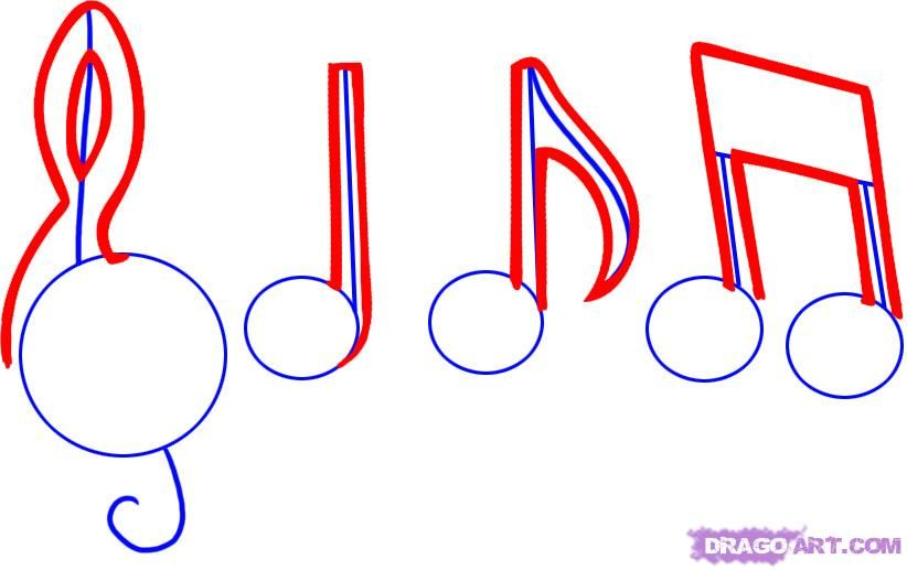 How to draw music notes music notes drawing