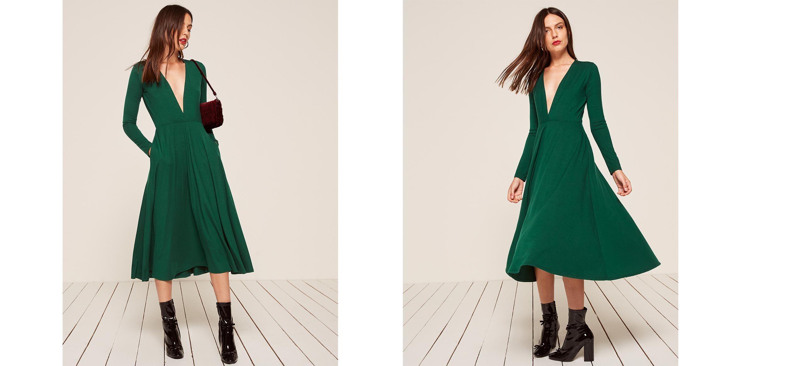 Reyes dress reformation swing skirt and neckline