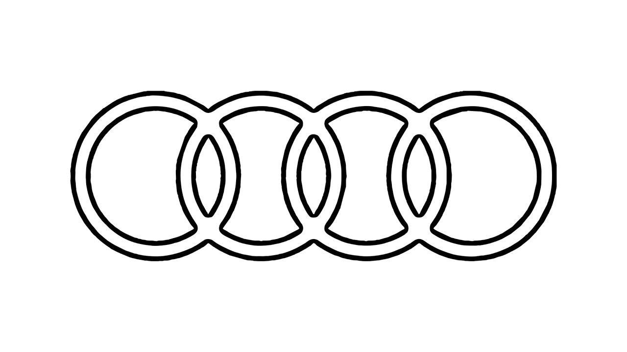 How To Draw The Audi Logo Symbol Emblem Youtube Audi Logo Stickmuster Sticken
